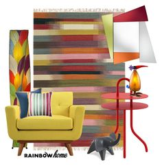 """Rainbow Home"" by ysmn-pan ❤ liked on Polyvore featuring interior, interiors, interior design, home, home decor, interior decorating, Brink & Campman, Cappellini, Universal Lighting and Decor and DIONISO"