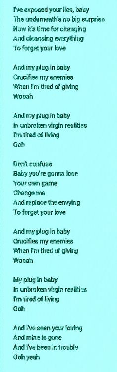Plug in baby - Muse