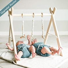 funny supply Wooden Baby Gym with 3 Gym Toys Foldable Baby Play Gym Frame Activity Center Hanging Bar Newborn Gift : Baby Baby Play, Baby Toys, Wood Baby Gym, Baby Items For Sale, Play Gym, Thing 1, Baby Swings, Activity Centers, Newborn Gifts