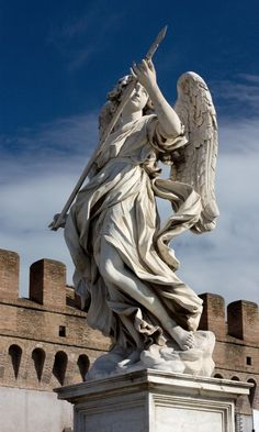 Angel with the Lance - The bridge was built in about 133 to link the mausoleum of Hadrian to the left bank of the Tiber,