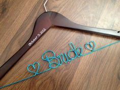 bride dress hanger   via 10 NEW Something Blue Ideas   http://emmalinebride.com/bride/new-something-blue/