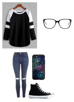 """""""Untitled #144"""" by darksoul7 ❤ liked on Polyvore featuring Topshop, Converse, Casetify and Victoria Beckham"""