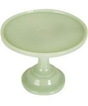 Green Jadeite 9 Inch Footed Cake Stand