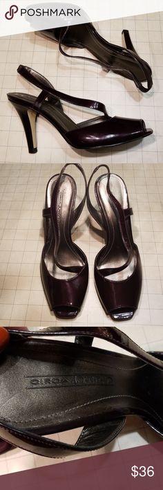 952e18f53fc Circa Joan  amp  David Deep Plum peep toe heels 8.5 Worn once! Tags still