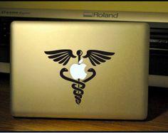 Symbol of Medicine: Apple Macbook Pro/Air Decal/Sticker