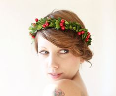 Holiday hair crown festive christmas head wreath by whichgoose, $68.00