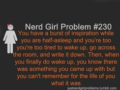 That is why I keep a notebook buy my bed
