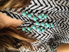 Turquoise mini bubble necklace!