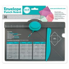 WE R MEMORY KEEPERS-Envelope Punch Board. This is the easiest envelope maker on the market! Just punch and score. The 2-way envelope punch creates fold tabs and round corners. It is easy to create des                                                                                                                                                     More