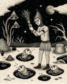 Acid Art, Beautiful Dark Art, Psy Art, Arte Obscura, Goth Art, Creepy Art, Hippie Art, Psychedelic Art, Surreal Art