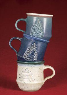 Ceramic Coffee Mugs - Linda Sharpless Pottery Mugs, Christmas Mugs, Mug Cup, Java, Stoneware, Tea Pots, Coffee Mugs, Cups, Crafty