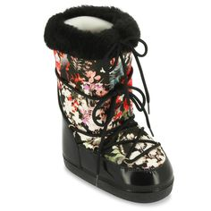 snow boot with floral print #robertocavallikids