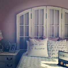 faire une tête de lit soi-même, fabriquer une tete de lit avec une porte ancienne