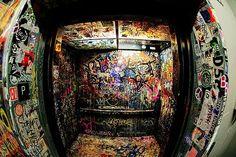 graffiti, elevator, and art afbeelding