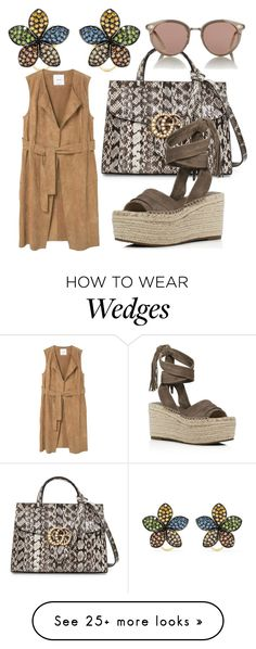 """""""put together"""" by glasspaperscizzors on Polyvore featuring Gucci, Effy Jewelry, MANGO, Oliver Peoples and Marc Fisher LTD"""