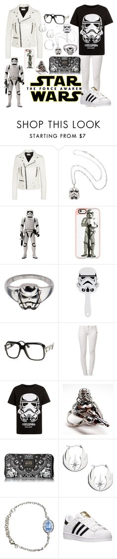 """""""Star Wars: The Force Awakens"""" by mentalterrorist on Polyvore featuring Yves Saint Laurent, Casetify, G-Star, Loungefly, adidas, starwars and contestentry"""