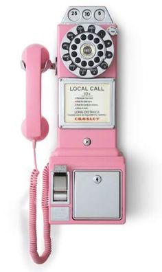Crosley Radio 'Pay Phone' Wall Phone
