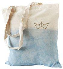 Jutebeutel // Jutetasche // tote bag // nautic // maritim // Ocean // Sailor // Boat // Origami // Polygon