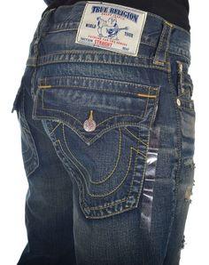 True Religion Mens Jeans Size 36 Straight W Flap Basic Nat SN Law Maker NWT $301 #TrueReligion #ClassicStraightLeg
