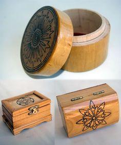 cajas madera pirograbadas - Buscar con Google