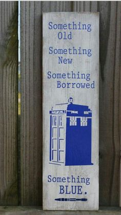 Wedding Inspiration: Something Blue with Doctor Who!