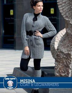 Misina – Coat & Legwarmers | Knitting Fever Yarns & Euro Yarns