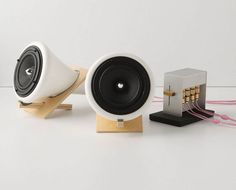 Joey Roth ceramic, cork, and Baltic birch wood speakers $498. Available at Anthropologie