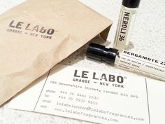 Le Labo brand identity.