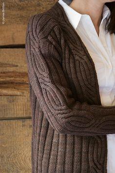 Knit cardigan.