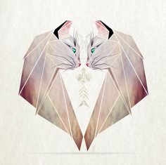 Inspired By Tangram, I Started Creating Geometric Illustrations Of Animals Published by Maan Ali