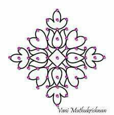 11-1 Rangoli Ideas, Rangoli Designs Diwali, Rangoli Designs Images, Rangoli Designs With Dots, Henna Designs Easy, Kolam Rangoli, Flower Rangoli, Rangoli With Dots, Beautiful Rangoli Designs
