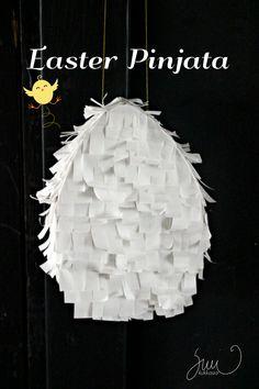 Suvikukkasia: Pääsiäispinjata! Askartele pääsiäiseksi pinjata! :) easter, crafts, pinjata, paper, egg, kids