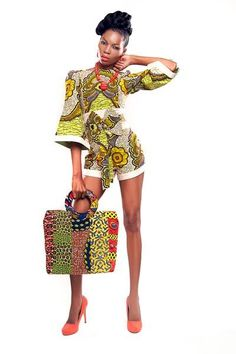 AfroChic...wow I know someone who'd look great in this ensemble..my baby sisters