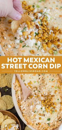 Hot Mexican Corn Dip has all the flavors of Mexican Street Corn in a deliciously. - Hot Mexican Corn Dip has all the flavors of Mexican Street Corn in a deliciously. Hot Mexican Corn Dip has all the flavors of Mexican Street Corn in. Appetizer Dips, Yummy Appetizers, Appetizers For Party, Mexican Food Appetizers, Party Snacks, Seafood Appetizers, Food For Parties, Party Games, Mexican Food Catering