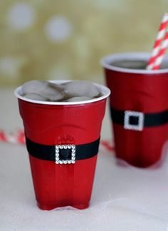 Clever Holiday Party Ideas using SOLO® Santas Belt Plastic Cup Craft & other Clever Holiday Party Ideas using SOLO®!Santas Belt Plastic Cup Craft & other Clever Holiday Party Ideas using SOLO®! Christmas Party Food, Christmas In July, All Things Christmas, Winter Christmas, Holiday Parties, Holiday Fun, Christmas Crafts, Merry Christmas, Christmas Decorations