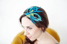 Blue Birdie Fascinator by Bethany Lorelle by bethanylorelle, $32.00