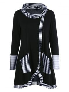 GET $50 NOW | Join RoseGal: Get YOUR $50 NOW!http://www.rosegal.com/plus-size-t-shirts/plus-size-striped-trim-overlap-906755.html?seid=1424208rg906755
