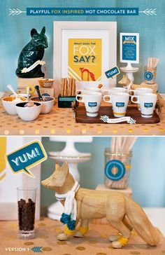 Playful Fox Inspired Hot Chocolate Bar {+ Free Printables!}