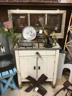 July 2017 Display in booth at Bismarck Antique Mall