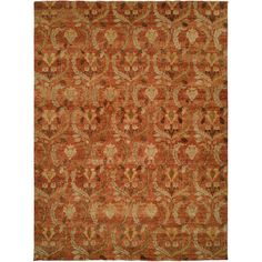 Meridian Rugmakers Hand-Knotted Brown Area Rug Rug Size: 4' x 6'
