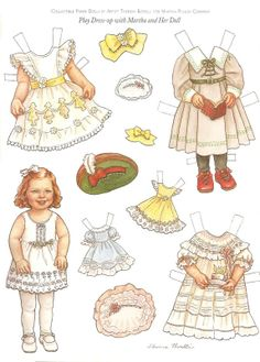 Play Dress-up with Martha and Her Doll Artist Theresa Borelli for Martha Pullen Company 1 of 2