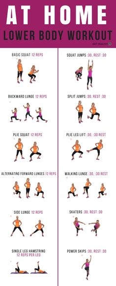 At-Home Butt & Thigh Workout - Get Healthy U Work your butt and thighs in the comfort of your own home with this at-home lower body workout!Work your butt and thighs in the comfort of your own home with this at-home lower body workout! Fitness Logo, Yoga Fitness, Physical Fitness, Fitness Humor, Fitness Style, Fitness Men, Fitness Tips, Shape Fitness, Fitness Design