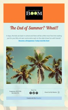 The End of Summer? What!!