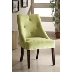 Furniture of America Apple Green Aura Leisure Microfiber Dining Chair - Overstock™ Shopping - Great Deals on Furniture of America Dining Chairs