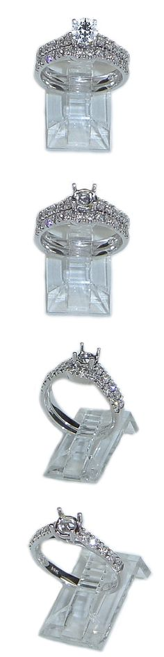 Sets without Stones 177019: 14K White Gold Diamond Engagement Ring Bridal Semi Mounting 2 Piece Set .55Ctw -> BUY IT NOW ONLY: $1895 on eBay!