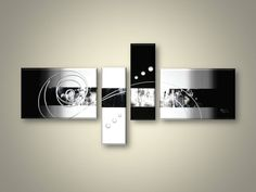 4-section contemporary canvas art for sale, very nice and elegant   Cyan Art Collection