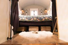Shepherd huts connected to rustic bothy are bursting with fairytale charm