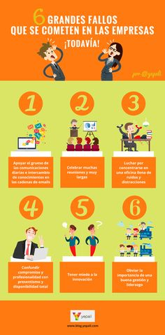 6 errores que cometen las empresas ¡todavía! #Infografía #Management #Liderazgo