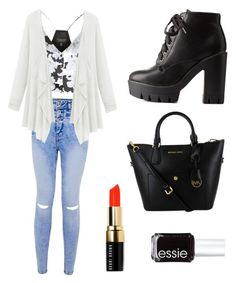 """Untitled #2"" by christinederosa on Polyvore featuring Topshop, Charlotte Russe, Bobbi Brown Cosmetics and Essie"