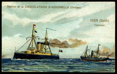 "https://flic.kr/p/hyju4A | French Tradecard - Swedish Warship, ""Oden"" 
